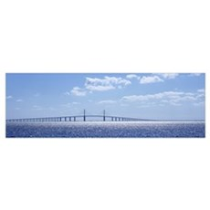 Bridge across a bay, Sunshine Skyway Bridge, Tampa Framed Print